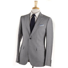 NWT $1935 BOGLIOLI Light Gray Houndstooth Check Wool Suit Slim 38 R (Eu 48)