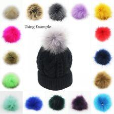 1PC 10cm Faux Fox Fur Pom Pom Ball for Beanie Hat DIY