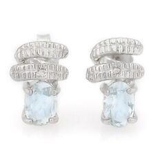 Ohrringe/Ohrstecker Jenna, 925er Silber, 0,65 Kt. echter Aquamarin/Diamant