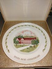 Vintage Avon Commemorative Plate Tenth Avon Anniversary California Perfume Co.