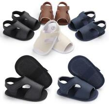New Arrived Baby Boy Crib Shoes Faux Leather Anti-Slip Summer Sandals 0-18 M