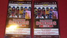 2013-14 Panini Contenders Hockey Hanger (2) Box Lot  Guaranteed 4 Autos Total