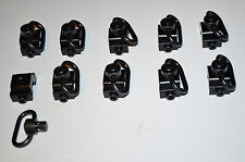(10 PACK) Rifle Sling Swivel Picatinny Rail Mount Quick Detach Button QD LOT