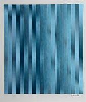 Op Art, Konkrete Kunst, Unikat, Mischtechnik, handsigniert, H.Heinecke, E64