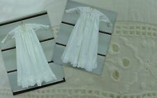 Antique Lace Christening Gown Dress Babies Dolls Embroidered Broderie Anglaise