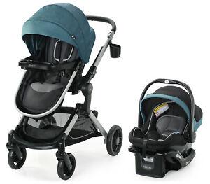 Graco Modes Nest Travel System Stroller with SnugRide 35 Elite Car Seat Bayfield