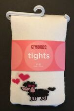 NWT Gymboree Tres Chic  2T-3T Poodle Heart Tights