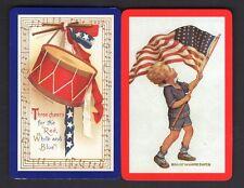 Vintage Swap/Playing Cards - Patriotic - USA Pair