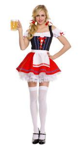 Women's Oktoberfest Beer Maid Costume Bavarian Wench Heidi Gretchen Fancy Dress