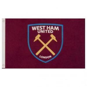 West Ham United FC Flag Football Team Club Large Core Crest Design 5X3ft Gift