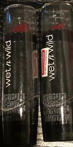 2 Wet n Wild Silk Finish Lipstick, Dark Wine 536A, New Sealed