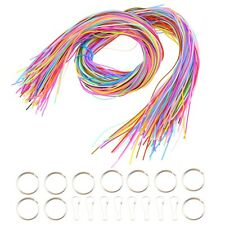 200pcs PVC 20-color Plastic Lacing String with Snap Clip Hooks Ring for DIY