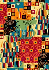 Esme Modern Geometric Patch Multi  Abstract Quilting Treasures Fabric 1/2 Yard