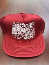 VTG Trucker Hat Cap Justa Swangin Just A Swingin Mesh Front Porch John Anderson
