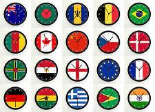 WORLD FLAGS WALL CLOCK - Choose a flag , 9 Inch Photo Clock