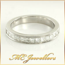 Exquisite Platinum Channel Set Diamond Wedding Ring Band 950  Sz N, 5.3G, 3.2m