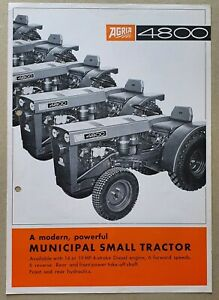 Agria 4800 Compact Municipal Tractor Leaflet/Brochure 1960's? 4 Page