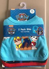 New listing Nwt Pack of 2 Nickelodeon Paw Patrol Baby 100% cotton Bibs Loc#Eb3