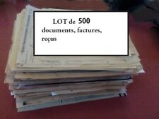 Lot de 500 factures, entêtes et documents ; origine France avant 1950