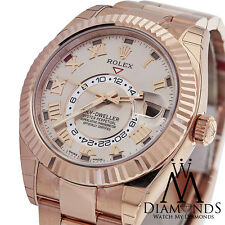 Rolex Sky Dweller Sundust Dial 18kt Everose Gold Men's Watch Ref 326935