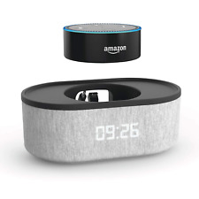 Bedside Speaker for Amazon Echo Dot 2nd Generation with LED Alarm Clock Heather