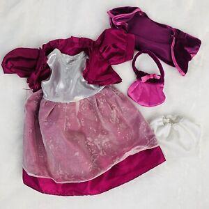 """Make Me Your Friend & Battat Doll Dress Cardigan Purse Underwear Purple Lot 18"""""""