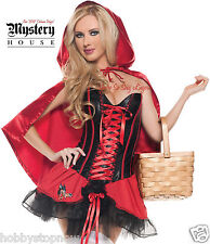 Sexy RED RIDING HOOD Authentic MYSTERY HOUSE Costume XL 3 Piece HS5