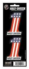 Harley Davidson #1 Racing Decal Sheet of 2 Body Red White Blue
