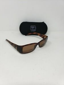 Fendi Women's Sunglasses FS300 238 Brown Wrap Italy 55 mm Prescription + Case