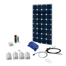 Solar panel kit 110W/12V mono back-contact, Schaudt MPPΤ regulator for EBL