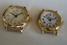 SET OF 2 GOLD FINISH WATCH FACES FOR BEADING,RIBBON OR OTHER USE