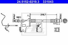 Bremsschlauch für Bremsanlage Hinterachse ATE 24.5152-0219.3