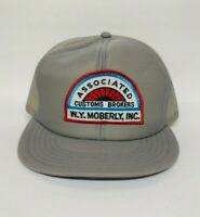Vintage Hat Associated Customs Brokers W.Y. Moberly, Inc. Hat Mesh Cap USA Made