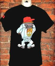 MENS NEFF LOONEY TUNES FRONT AND BACK TAZ BLACK T-SHIRT SIZE L