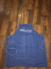 Guc The Pampered Chef Denim Apron Vintage Used For Demonstration Shows