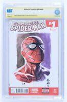Amazing Spider-man #1 J G Jones Original Art Sketch Cover CBCS Witnessed not CGC