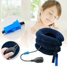 Inflatable Pillow Cervical Neck Headache Pain Traction Support Brace Device AO