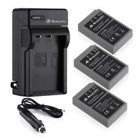 BLS-5 Battery + AC/DC Charger for Olympus BLS-50 PS-BLS5 OM-D E-M10 PEN E-PL2