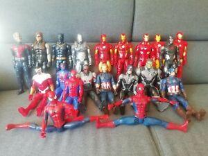 MARVEL - HASBRO , SPIDER-MAN , CAPTAIN AMERICA....etc / lot de 20 figurines