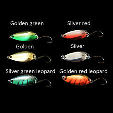 5pcs/lot 3g 58mm Spinner Spoon Fishing Lure Metal Lures Colorful Hard Baits LJ