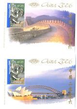 Australia-China 2006 set of 2 m/s mnh( MS 2726)Great Wall of China