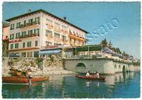 Cartolina di Belgirate, hotel ristorante e barche sul lago - Verbania