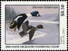 MAINE #21 2004 STATE DUCK STAMP BARROWS  GOLDENEYE by Rick Alley