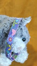 Spring Floral Designs On Lavender Handmade Fabric Cat Collar.Just Fun