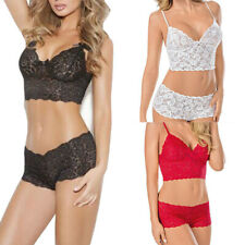Women's Sexy Lingerie Lace Plus Size Push Up Underwear Bra Panty Set