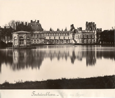 France, Fontainebleau, Le Château  Vintage albumen print.  Tirage albuminé