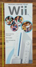 Nintendo Wii 2006 Video Game Store Launch Display Poster