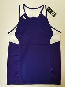 adidas Womans Utility Singlet Racerback Tank Top Large L Grape NWT *SHIPS FAST*