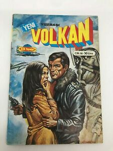 CAPTAIN VOLKAN #42 #43 - Turkish Comic Book - 1980s - Very Rare