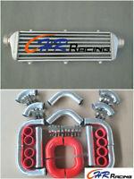 "Aluminum Intercooler 450x140x50 2.25"" 57 mm turbo pipe 12 pcs + Red hose"